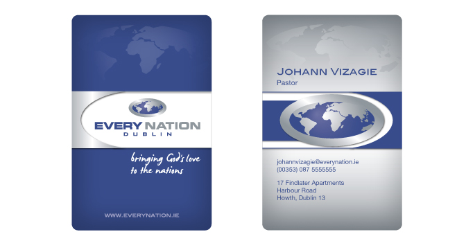 Aviza design every nation church dublin business card encd reheart Gallery