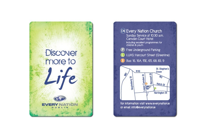 Every Nation Church Dublin Invitation Business Cards Encd